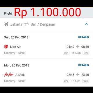 Tiket Murah Jakarta-Bali (PP)