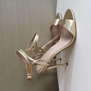 ALDO Golden heels