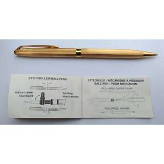 Waterman Plaque Or Vintage Roller Pen 1970年代鍍金筆