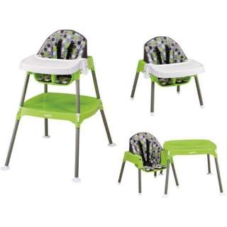 Evenflo Convertible High Chair - Dottie Green Lime