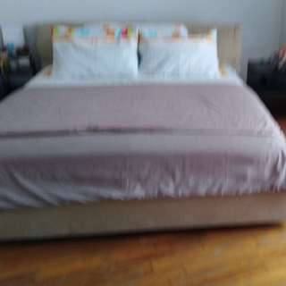 King size bed in mint condition