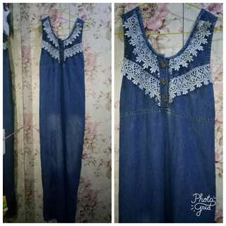 Long dress Bahan jeans