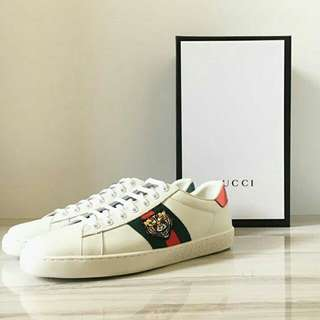 GUCCI TIGER ACE EMBROIDERED SNEAKERS