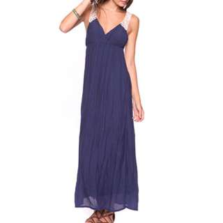 FOREVER21 Crochet Lace Maxi Dress