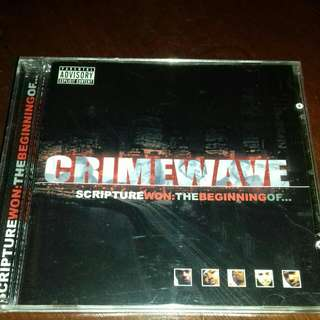 Crimewave Scripture won the beginning of..rare original USA pressing cd used Rap