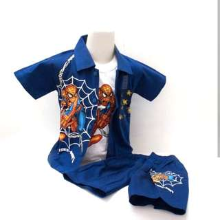 Stelan spiderman anak biru