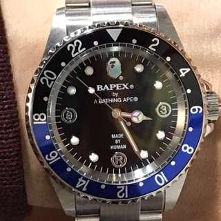 底玩!原行價4699 BAPEX by A BATHING APE BAPE WATCH 猿人時計 猿人手錶