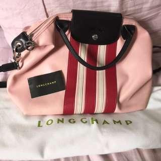 Authentic Longchamp cuir rayaa