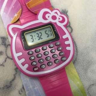 Hello kitty caculator watch