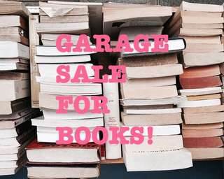 GARAGE SALE FOR BOOKS