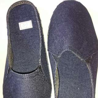 Carcar made Espadrilles Navy blue half shoes