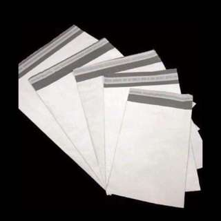 White Polymailers - 30pcs