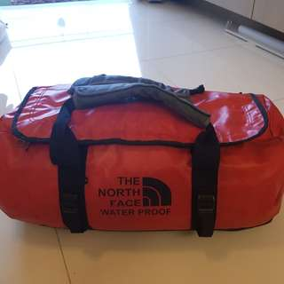 North Face water proof duffle bag