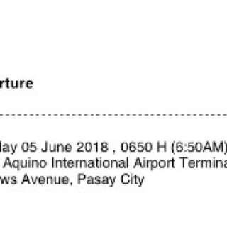2 Tickets Manila to Davao June 5, 2015