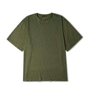 Oversize Olive Green Tee