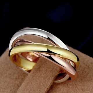 High quality 3 mix colors wedding love rings for women titanium stell finger ring Anillo Fine couple jewelry