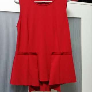 Women's red sleeveless top