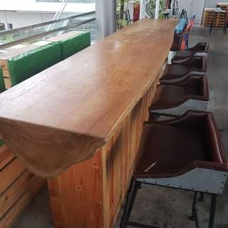 Bar table top solid wood
