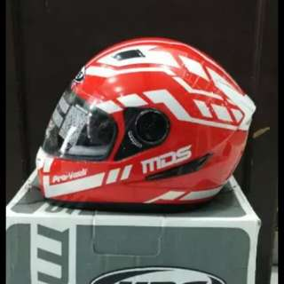 Helmet MDS provent red white full face
