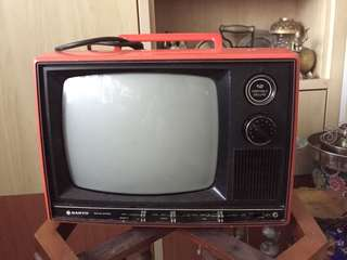 Old TV black and white Tv