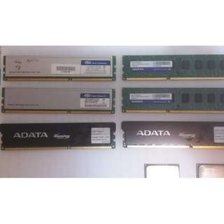 技嘉880gma-ud2h底版兩塊,adata ddr3 1600 gaming series 2GB 兩條,adata ddr3 1333 2GB 兩條, team ddr3 1333 4GB 雙面 兩條,AMD phenom 2 945,AMD athlon 250
