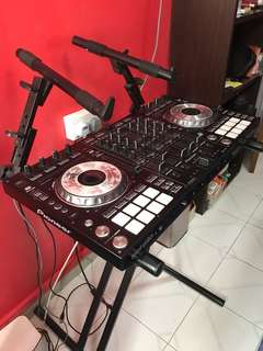 Pioneer DDJ SX with stand and bag