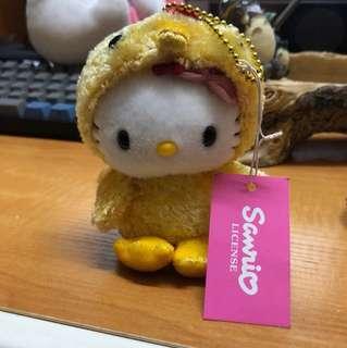 Hello kitty扮雞公仔鎖匙扣