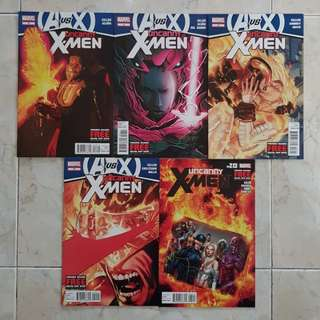 Uncanny X-Men Vol 2 (Marvel Comics 5 Issues; #16 to 20; complete AVX story arc; #20 is the final issue for this title series)