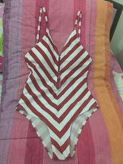 Red Stripes One-piece Swimsuit