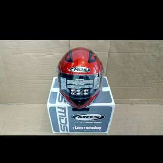 Helmet MDS pro rider red full face