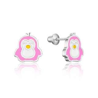 Penguin screwback earrings USA