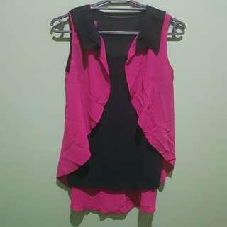 Sleeveless - Pink/Black