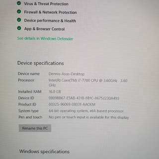 1 year old gaming pc for sale
