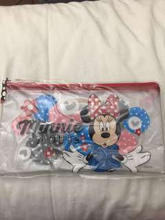 Minnie Mouse clear pencil case
