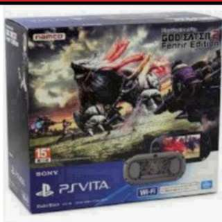 Vita Slim God Eater 2 Fenrir Limited Edition With Accessories
