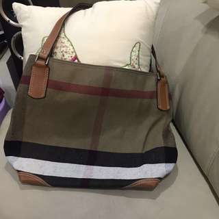 Burberry Double strap shoulder tote