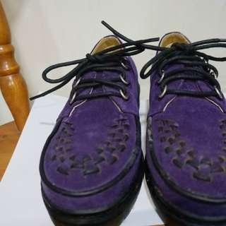 Heartbreaker日本鞋 Eu36碼 紫色 厚底 綁帶