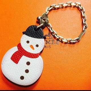 愛馬仕 限量版 雪人 吊飾物 charm hanger key clea snowman. Limited.