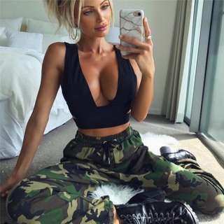 🌹 Camouflage Track Pants