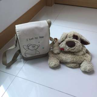 Bear and puppies bags