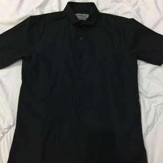 Topman Black Short Sleeves Shirt