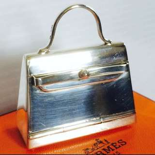 Hermes Limited 愛馬仕 超罕有限量版 Kelly 純銀 裝飾品 儲存盒 Pure Silver 925 Decoration Box