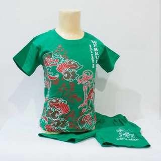 Stelan batik hijau