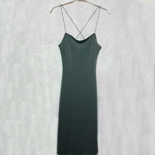 Forever 21 sexy olive dress