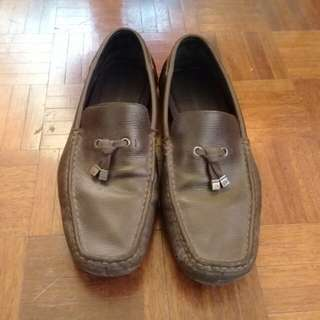 Calvin Klein brown loafers
