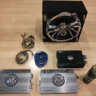 Pioneer Soundstream amp's and tarantula Subwoofer
