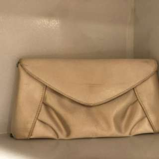 Cream Satin Evening Bag