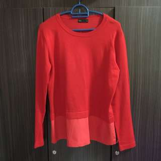 MIGHTY MARCH'18 SALE-SEED RED TIER BLOUSE