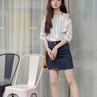 Loose Chiffon White Shirt