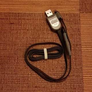 Kabel charger micro usb/ lightning dengan indikator